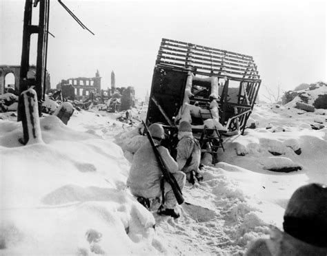 American infantrymen during the Battle of the Bulge
