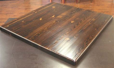 Rustic Distressed Pine Wood Table Tops for Restaurants