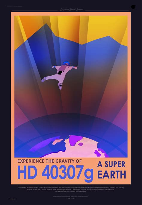 NASA's travel posters promote newly discovered planets
