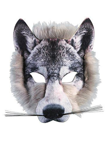 Forum Novelties Wolf Realistic Fur Face Mask, Grey, One S