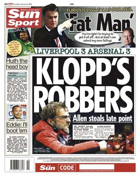 The Sun backpage 14012016 - Goal